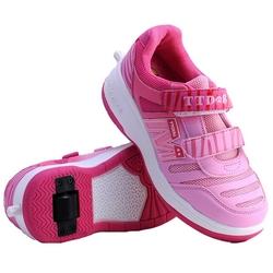 zapatillas con ruedas rosas
