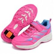 zapatillas con ruedas running rosas