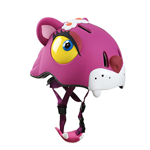 casco gato rosa