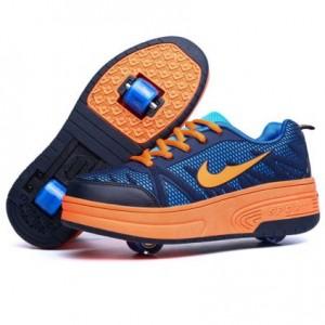 zapatillas-dos-ruedas-azul naranja