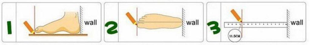 Medir pie niño zapatillas ruedas