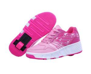 zapatillas ruedas rosa una rueda
