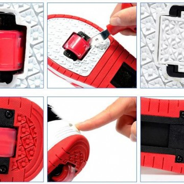 Tutorial para extraer las ruedas en las zapatillas con ruedas