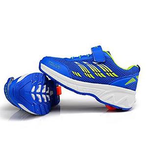 zapatillas Vilocy azul y amarillo