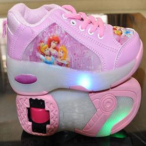 zapatillas con ruedas y luces princesas disney